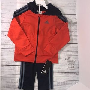 Adidas 3T Activewear 2pc. set Orange/Navy Outfit